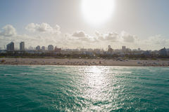 Panorama aérien de week-end de Jour du Souvenir de Miami Beach Photo stock