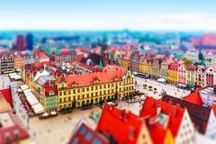 Panorama aérien de Wroclaw, Pologne photos stock