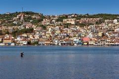 Panorama aan Argostoli-stad, Kefalonia, Ionische eilanden, Griekenland royalty-vrije stock foto's