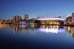 Panorama aan BC Place Stadium Vancouver, Canada stock foto