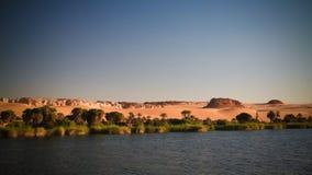 Panorama aan Boukkou-meergroep de meren van Ounianga Serir in Ennedi, Tsjaad royalty-vrije stock afbeelding