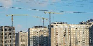 Panorama aan de bouwwerf Stock Afbeeldingen