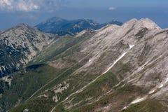 Panorama aan de Piek van Banski Suhodol en Koncheto, Pirin-Berg royalty-vrije stock afbeelding