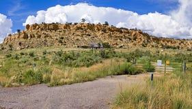 Panorama abandonado del rancho imagen de archivo
