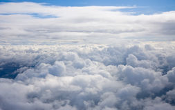Panorama above the clouds Royalty Free Stock Photos