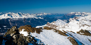 Panorama above lenzerheide Royalty Free Stock Images