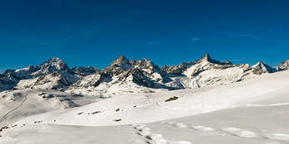 Panorama above Zermatt Royalty Free Stock Image