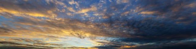 Panorama abstrait de ciel Photo stock