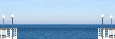 Panorama- abstrakt havsbakgrund eller baner Royaltyfri Fotografi