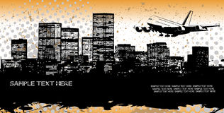 Panorama abstrato da cidade Imagens de Stock