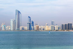 Panorama of Abu Dhabi, the capital city of UAE Stock Photos