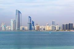 Panorama of Abu Dhabi, the capital city of UAE Stock Photos