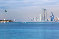 Panorama of Abu Dhabi, the capital city of UAE Stock Images