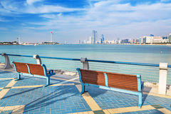 Panorama of Abu Dhabi, the capital city of UAE Stock Photography