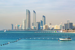 Panorama of Abu Dhabi, the capital city of UAE Stock Photo
