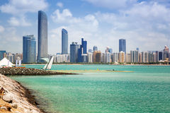 Panorama of Abu Dhabi, UAE. Panorama of Abu Dhabi, the capital city of United Arab Emirates Stock Photos