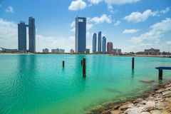 Panorama of Abu Dhabi, UAE Stock Photography