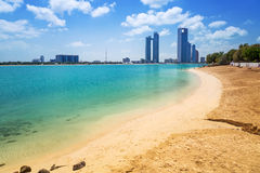 Panorama of Abu Dhabi, UAE Royalty Free Stock Photo