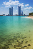 Panorama of Abu Dhabi, UAE. Panorama of Abu Dhabi, the capital city of United Arab Emirates Royalty Free Stock Image