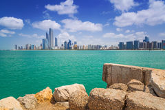 Panorama of Abu Dhabi, UAE Stock Images