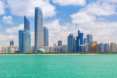 Panorama of Abu Dhabi, UAE. Panorama of Abu Dhabi, the capital city of United Arab Emirates Royalty Free Stock Photo
