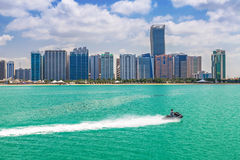 Panorama of Abu Dhabi, UAE. Panorama of Abu Dhabi, the capital city of United Arab Emirates Stock Image