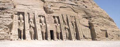 Panorama of Abu Simbel Royalty Free Stock Photos