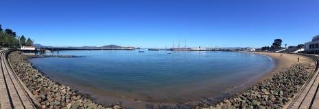 Panorama acquatico della baia fotografia stock