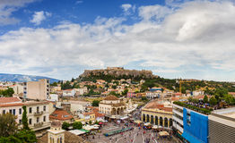 Panorama of Acropolis Parthenon, Athens Stock Image
