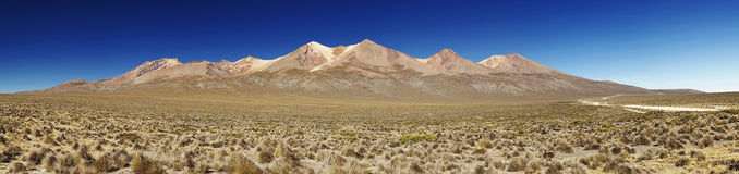 Panorama of active volcano Pikchu Pikchu, Arequipa, Peru Stock Photography