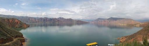 Panorama ad ovest di paesaggio della Cina Fotografia Stock