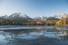 Panorama adorabile nelle montagne Immagini Stock Libere da Diritti