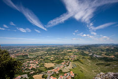 Panorama on the Adriatic coast Stock Photos