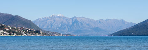 Panorama of the adriatic sea islands Royalty Free Stock Photography