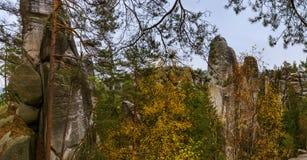Panorama Adrspach-Teplice natury park w czechu Obraz Stock