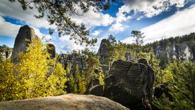 Adrspach - Teplice Rocks. Panorama of Adrspach - Teplice Rocks Royalty Free Stock Images