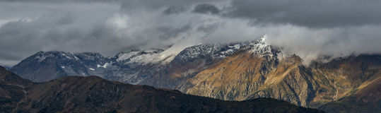 Panorama of Adzharo-Imeretinskiy Range. Caucasus mountains. Stock Photography