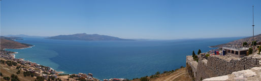 Panorama of the Aegean Royalty Free Stock Images