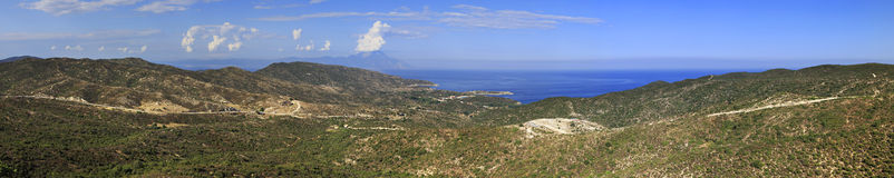 Panorama of Aegean coast. Stock Photo