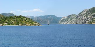 Panorama of the aegean sea Royalty Free Stock Photo