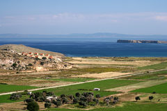 Panorama aegean sea. Royalty Free Stock Photography