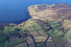 Panorama aereo dell'Isola di Man Fotografia Stock