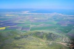 Panorama aereo 1 della località di soggiorno di Sunny Beach Fotografia Stock Libera da Diritti