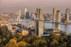Panorama aereo di Rotterdam Fotografia Stock