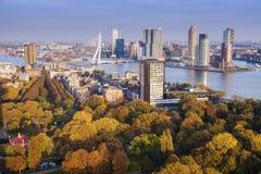 Panorama aereo di Rotterdam Fotografia Stock Libera da Diritti