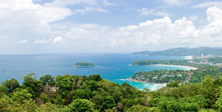 Panorama Aerial of Tropical beach Phuket Thailand Stock Image