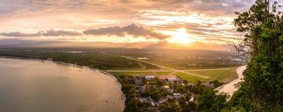 Panorama aerial vew of bay, Prachuap Khiri Khan Thailand.  Stock Image