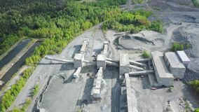Panorama aerial view ahot of iron ore processing plant