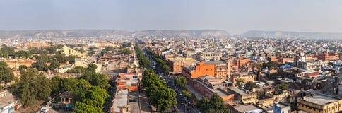 Panorama of aerial view of Jaipur, Rajasthan, India Royalty Free Stock Image