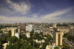 Panorama aerial view of Kyiv Stock Photography